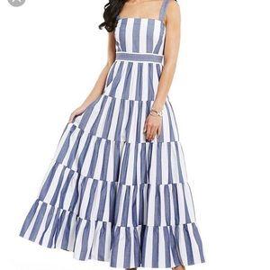 Eliza J striped Maxi dress